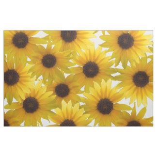 Bunch of Sunflowers Combed Cotton Fabric