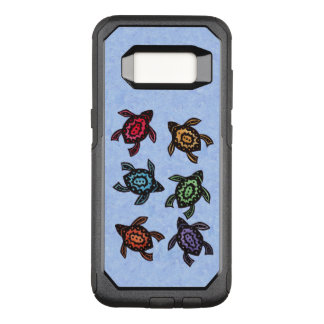 Bunch of Swimming Abstract Turtles Colored Shells OtterBox Commuter Samsung Galaxy S8 Case