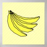 Bunch of Yellow Bananas. Print
