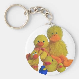 buncha ducks basic round button key ring