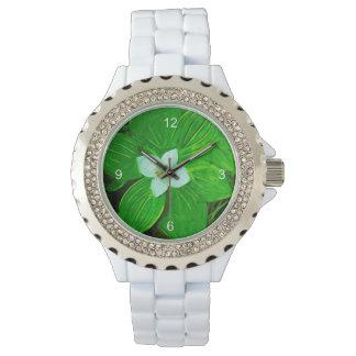 Bunchberry White Wildflower Wrist Watch