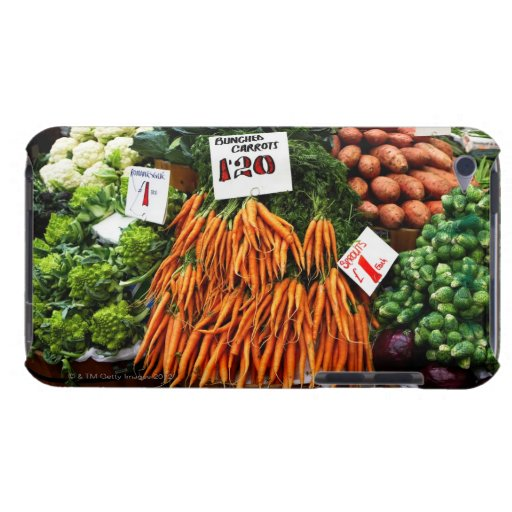 Bunches of carrots and vegetables on market Case-Mate iPod touch case