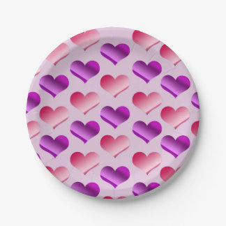Bunches of Hearts Paper Plate
