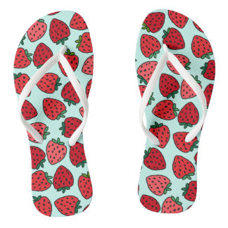 Bunches of Strawberries - Flip Flops Thongs
