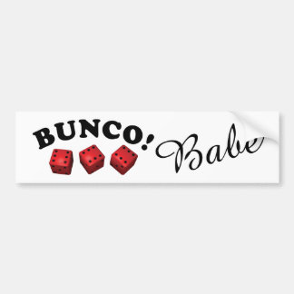 Bunco Babe Red Dice Bumper Sticker