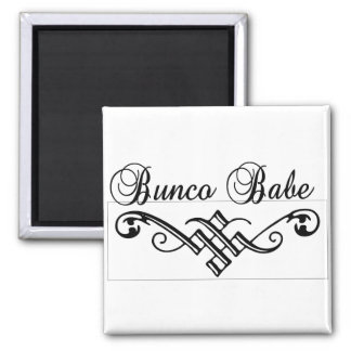 bunco babe with black lettering magnet