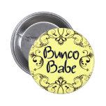 Bunco Babe with Swirls Button