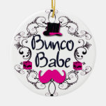 Bunco Babe with Swirls, Moustache and Top Hat