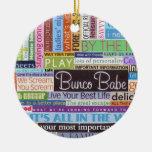 Bunco Best Round Ceramic Decoration