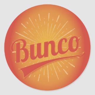 Bunco Burst Classic Round Sticker