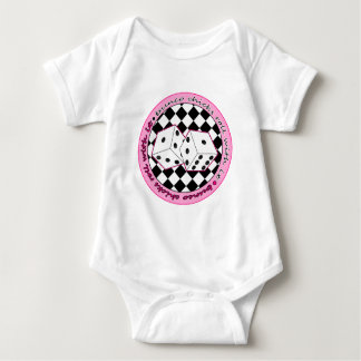 Bunco Chicks Roll With It - Pink Baby Bodysuit