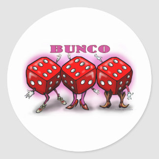 Bunco Classic Round Sticker
