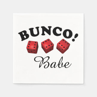 Bunco Dice and Babe Text Disposable Napkin