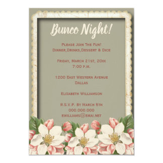 Bunco Dice - Girls Night Out Party Vintage Card