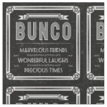 Bunco Fabric - Vintage Typography