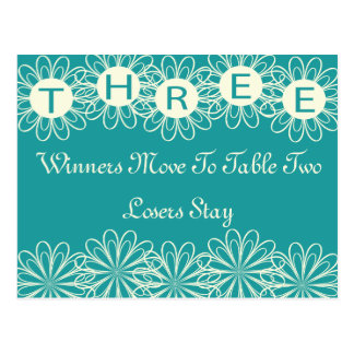 Bunco Flowers Table Card #3