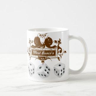 bunco game design coffee mug