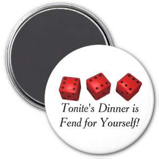 Bunco Game Nite No Dinner Magnet