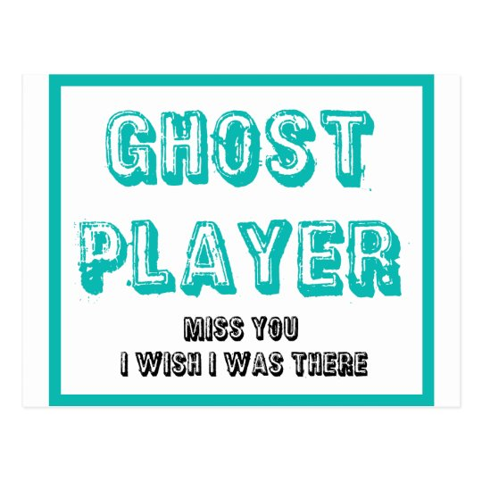 bunco ghost player postcard