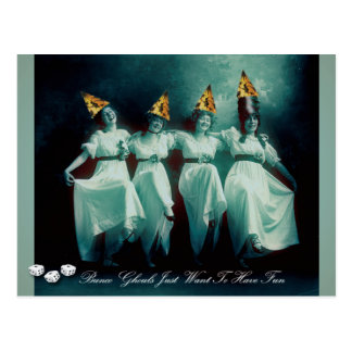 Bunco Ghouls Just Want To Have Fun Invite Postcard
