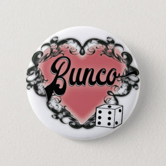 bunco girls night out heart tattoo button