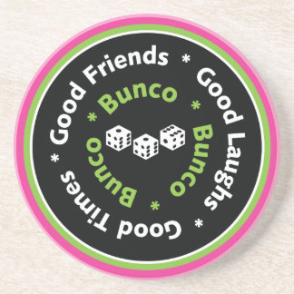 bunco good friends beverage coaster