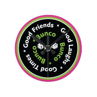 Bunco Good Friends, Good Laughs, Good Times Clock