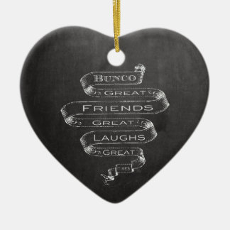 Bunco Great Friends Ceramic Ornament