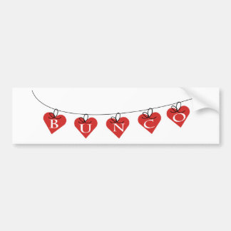Bunco Heart Banner Bumper Sticker