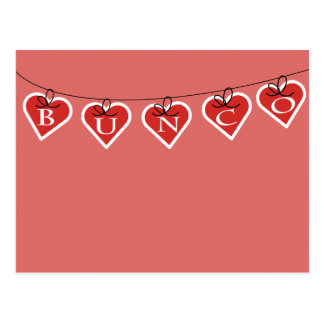 Bunco Heart Banner Postcard