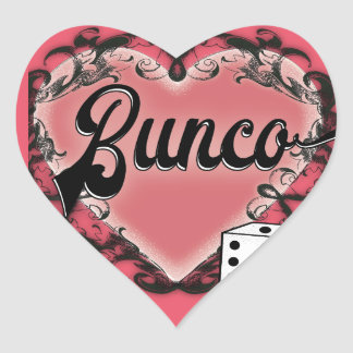 bunco heart tattoo heart sticker