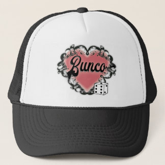 bunco heart tattoo trucker hat