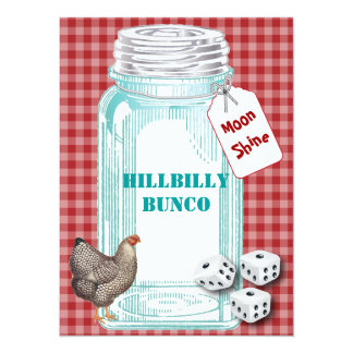 Bunco Hillybilly Style or Country Style Card