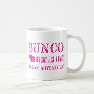 bunco its not just a game pink mug