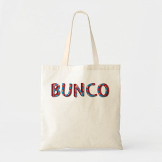Bunco letters with bunco dice tote bag