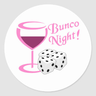 Bunco Night Classic Round Sticker