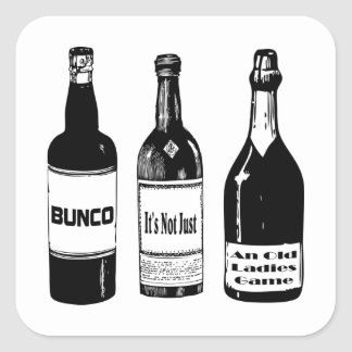 Bunco Not Just An Old Ladies Game Square Sticker