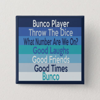 Bunco Player Modern Stripe Design 15 Cm Square Badge