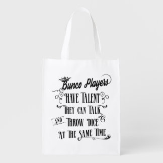 Bunco Players Have Talent With Crown Reusable Grocery Bag