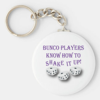 bunco players know how to shake it up! key ring
