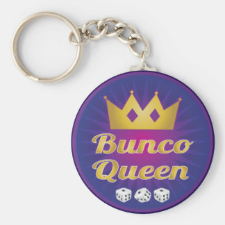 Bunco Queen Crown and Dice Key Ring