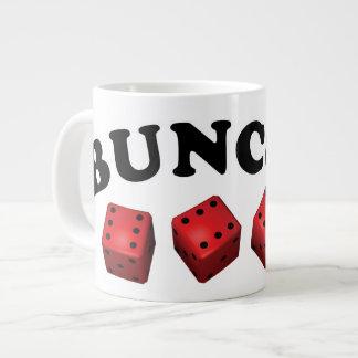 Bunco Sixes with Name Large Coffee Mug
