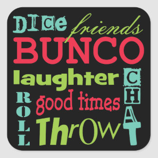 Bunco Subway Art Design By Artinspired Square Sticker