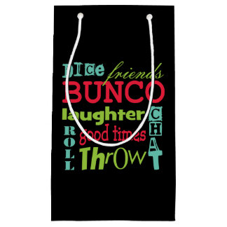 Bunco Subway Art Small Gift Bag