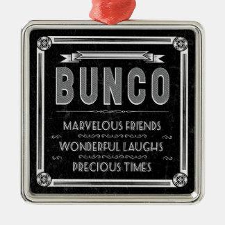 Bunco Vintage Typography Metal Ornament