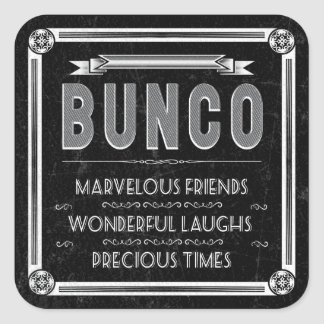 Bunco Vintage Typography Square Sticker