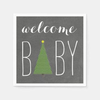 Bundle Of Joy Chalkboard Pumpkin Fall Baby Shower Paper Napkins
