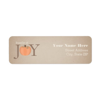 Bundle Of Joy Pumpkin Baby Shower Address Label