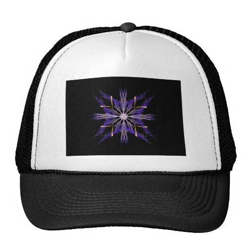 Bundled Blue Straw Fractal Art Star Trucker Hat