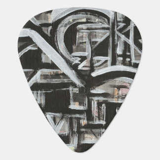 Bungalow-Hand Painted Abstract Brushstrokes Plectrum